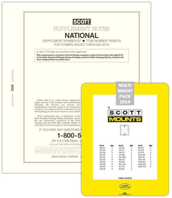 SCOTT 2019 NATIONAL SUPPLEMENT WITH MOUNTS